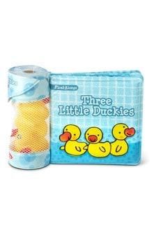 Melissa & Doug Three Little Duckies Floating Bath Toys & Book