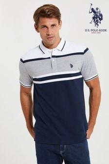 U.S. Polo Assn. Border Varsity Pique Poloshirt