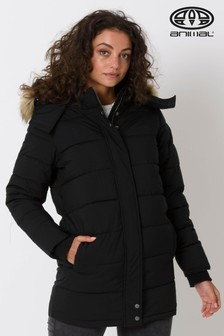 Animal Black Artic Longline Padded Jacket