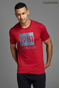 Calvin Klein Red 1981 Bold T-Shirt