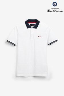 Ben Sherman Collar Print Poloshirt