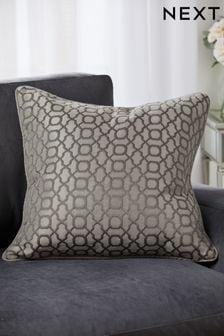 Woven Geo Large Jacquard Cushion