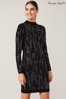 Phase Eight Black Adamina Stud Knit Dress