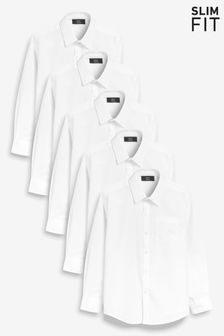 Long Sleeve Shirts Five Pack (3-16yrs)