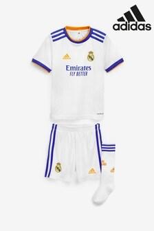 adidas Real Madrid 21/22 Home Mini Football Kit