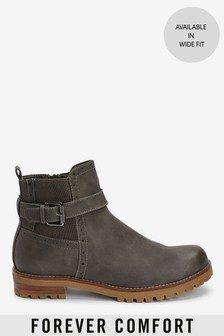 Chunky Buckle Boots