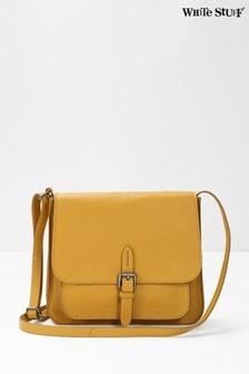 White Stuff Tan Emma Leather Cross Body Bag