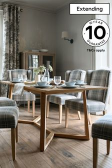 Hendrick Pine 6 to 8 Seater Extending Dining Table