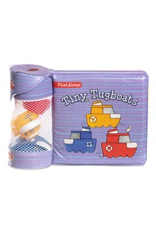 Melissa & Doug Tiny Tugboats Floating Bath Toys & Book