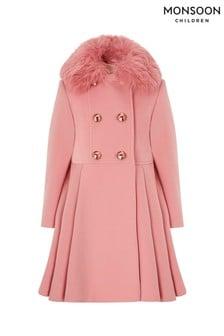 Monsoon Children Pink Maisie Coat