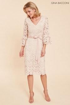 Gina Bacconi Pink Chyna Embroidered Dress