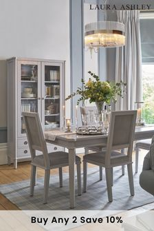 Henshaw Pale Charcoal Extending Dining Table by Laura Ashley
