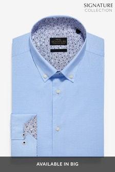 Trim Detail Stretch Signature Shirt
