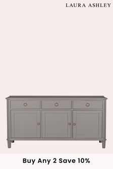 Henshaw Pale Charcoal 3 Door 3 Drawer Sideboard by Laura Ashley