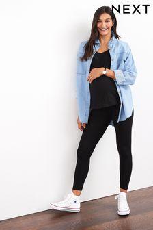 Maternity/Nursing Oversize Denim Shirt