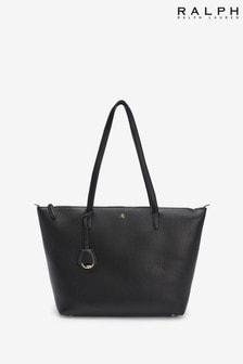 Ralph Lauren Vegan Leather Keaton Zip Tote Bag