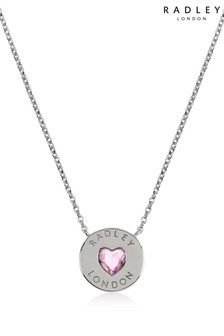 Radley Sterling Silver Heart Stone Necklace