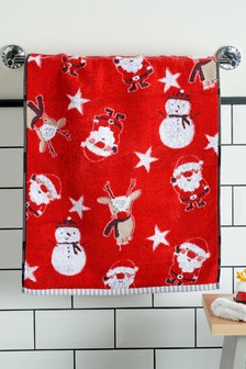 Red Santa and Friends Towel