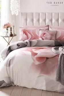 Ted Baker Pink Porcelain Rose Cotton Duvet Cover