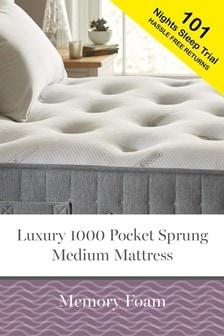 1000 Pocket Sprung Luxury Memory Foam Medium Mattress