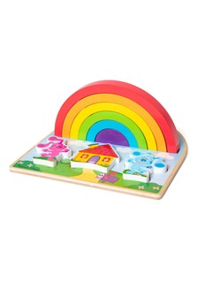 Melissa and Doug Wooden Rainbow Stacking Puzzle