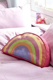 Sequin Rainbow Cushion