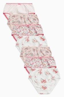 Floral/Spot Briefs Seven Pack (1.5-12yrs)