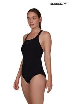 Speedo Black Essential Endurance+ Kickback Swimsuit