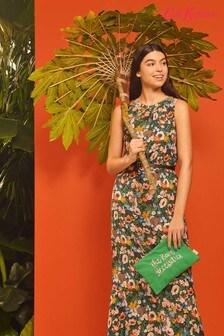Cath Kidston® Blue Jungle Book Flowers Sleeveless Maxi Dress
