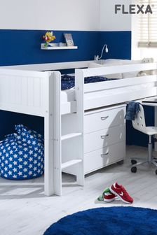 Nordic Midsleeper with Pull Out Desk and Chest by Flexa