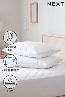 Set of 2 Sleep In Silk Firm Pillows