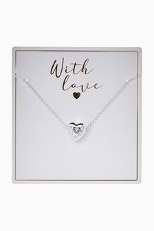 'With Love' Starburst Heart Necklace