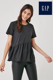 Gap Short Sleeve Asymmetric Peplum T-Shirt