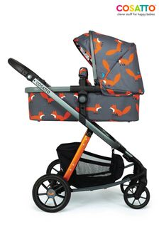 Giggle Quad Pram and Pushchair Charcoal Mister Fox