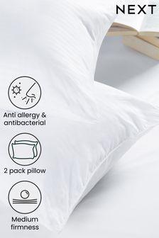 Medium Set of 2 Anti Allergy and Antibacterial Pillows