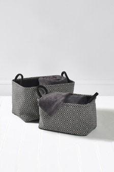 Set of 2 Geometric Baskets