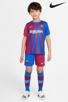 Nike Barcelona 21/22 Home Infants Football Kit