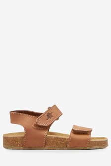 Smart Leather Corkbed Sandals (Younger)