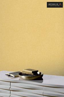 Arthouse Yellow Linen Texture Wallpaper