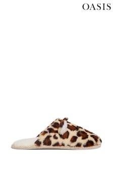 Oasis Leopard Mule Slippers