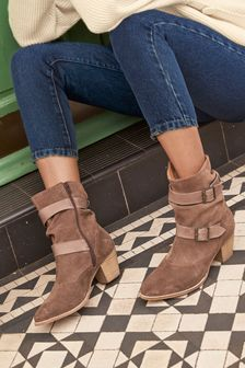 Forever Comfort® Buckle Detail Boots