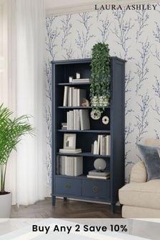 Henshaw Dusky Seaspray 2 Drawer Single Bookcase by Laura Ashley