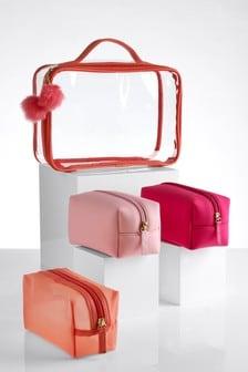 Set of 4 Pink Make Up Bags