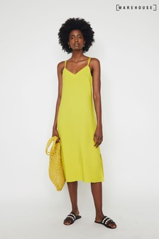 Warehouse Cross Back Midi Cami Dress