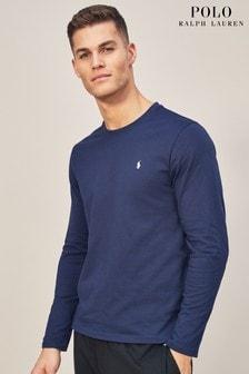 Polo Ralph Lauren Navy Long Sleeve Crew T-Shirt