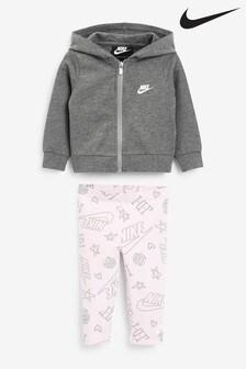 Nike Infant Logo Bodysuit, Legging and Hoodie Set
