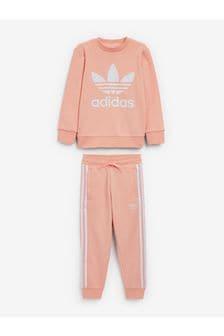 adidas Originals Little Kids Trefoil Crew Set