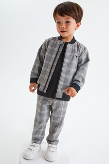Check Bomber Jacket And Trousers Set (3mths-7yrs)