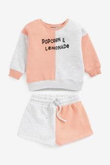 Popcorn And Lemonade Jumper And Shorts Co-ord Set (3mths-7yrs)
