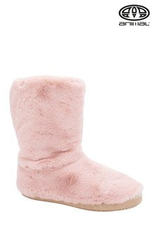 Animal Rose Dust Pink Bollo Slipper Boots